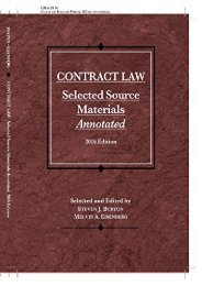 Unlimited Read and Download Contract Law, Selected Source Materials Annotated (Selected Statutes) -  Unlimed acces book - By Steven Burton