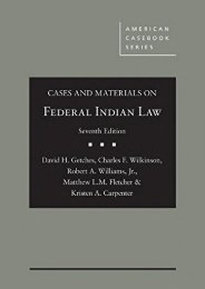 [Free] Donwload Cases and Materials on Federal Indian Law (American Casebook Series) -  Populer ebook - By David Getches