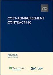 Best PDF Cost-Reimbursement Contracting -  Unlimed acces book - By Ralph C Nash Jr