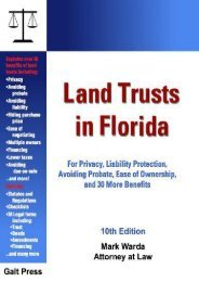 Best PDF Land Trusts in Florida: For Privacy, Liability Protection, Avoiding Probate, Ease of Ownership, and 30 More Benefits -  Unlimed acces book - By Mark Warda