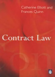Read PDF Contract Law -  [FREE] Registrer - By Catherine; Quinn, Frances Elliott