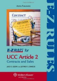 Read PDF E-Z Rules for Contracts   Sales: With Selected Provisions from Articles 5 and 7 -  Best book - By Jack S. Ezon