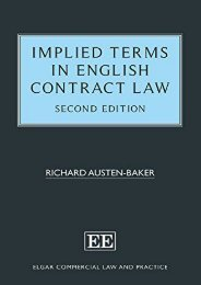 Unlimited Ebook Implied Terms in English Contract Law (Elgar Commercial Law and Practice Series) -  For Ipad - By Richard Austen-Baker