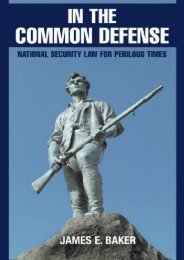 Best PDF In the Common Defense: National Security Law For Perilous Times -  For Ipad - By James E. Baker
