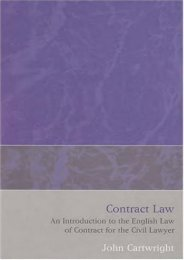 Read PDF Contract Law: An Introduction to the English Law of Contract for the Civil Lawyer -  Unlimed acces book - By John Cartwright