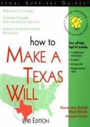 Best PDF How to Make a Texas Will -  Best book - By Karen Ann Rolcik