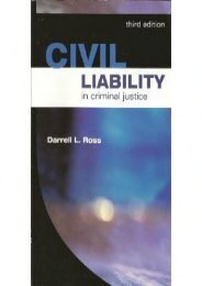 Unlimited Read and Download Civil Liability in Criminal Justice -  Best book - By Darrell L Ross