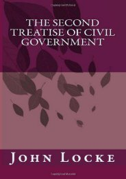Best PDF The Second Treatise of Civil Government -  Best book - By John Locke