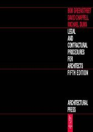 Best PDF Legal and Contractual Procedures for Architects -  [FREE] Registrer - By Robert Greenstreet PhD  RIBA
