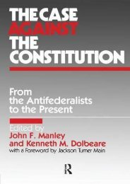Download Ebook The Case Against the Constitution (From the Antifederalists to the Present) -  For Ipad - By John F. Manley