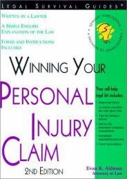Full Download Winning Your Personal Injury Claim (Win Your Personal Injury Claim) -  [FREE] Registrer - By Evan K. Aidman