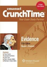 Best PDF Emanuel Crunchtime for Evidence -  Online - By Steven Emanuel