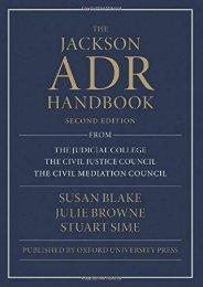 Best PDF The Jackson ADR Handbook -  Unlimed acces book - By Susan Blake