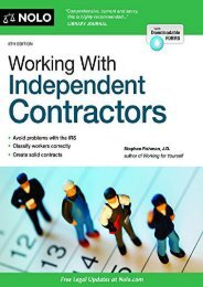 Unlimited Read and Download Working with Independent Contractors -  For Ipad - By Stephen Fishman J.D. Jd