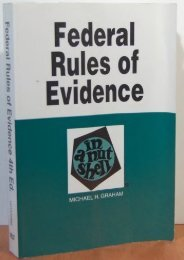 Full Download Federal Rules of Evidence in a Nutshell (Nutshell Series) -  Populer ebook - By Michael H. Graham