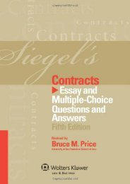 Read PDF Siegel s Contracts: Essay Multiple-Choice Questions and Answers, Fifth Edition -  Online - By Siegel
