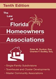 Unlimited Ebook The Law of Florida Homeowners Associations: Single Family Subdivisions, Townhouse   Cluster Developments, Master Community Associations (Law of Florida Homeowners Associations (Paperback)) -  [FREE] Registrer - By Peter Dunbar