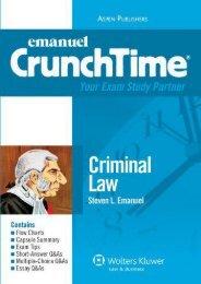 Best PDF Emanuel Crunchtime: Criminal Law -  Online - By Steven Emanuel