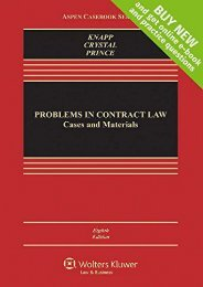 Best PDF Problems in Contract Law: Cases and Materials (Aspen Casebook) -  Best book - By Charles L Knapp