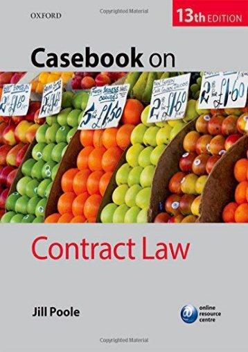 Unlimited Ebook Casebook on Contract Law -  [FREE] Registrer - By Jill Poole
