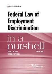Full Download Federal Law of Employment Discrimination in a Nutshell (Nutshell Series) -  [FREE] Registrer - By Mack Player