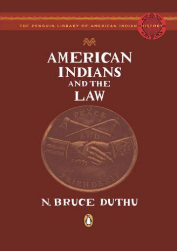 Download Ebook American Indians and the Law (Penguin Library of American Indian History (Paperback)) -  Unlimed acces book - By N Bruce Duthu