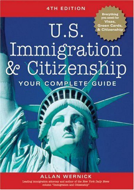 Full Download U.S. Immigration and Citizenship Complete Guide (U.S. Immigration   Citizenship) -  [FREE] Registrer - By Allan Wernick