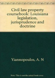 Download Ebook Civil law property coursebook: Louisiana legislation, jurisprudence and doctrine -  For Ipad - By A. N Yiannopoulos
