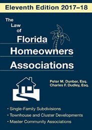 Full Download The Law of Florida Homeowners Association -  For Ipad - By Peter M Dunbar