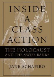 Best PDF Inside a Class Action: The Holocaust and the Swiss Banks -  [FREE] Registrer - By Jane Schapiro