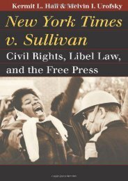 Read PDF New York Times v. Sullivan: Civil Rights, Libel Law, and the Free Press (Landmark Law Cases   American Society) -  Best book - By Kermit L. Hall