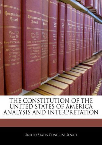 Read PDF The Constitution Of The United States Of America Analysis And Interpretation -  [FREE] Registrer - By