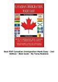 Best PDF Canadian Immigration Made Easy - 2nd Edition -  Best book - By Tariq Nadeem - Page 4