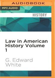 Download Ebook Law in American Historyvolume 1: From the Colonial Years Through the Civil War -  Unlimed acces book - By