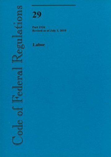 Unlimited Read and Download Labor (Code of Federal Regulations) -  Online - By