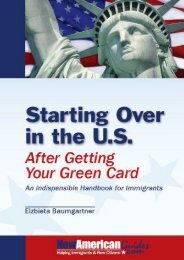 Read PDF Starting Over in the U.S. After Getting Your Green Card: An Indispensible Guide for Immigrants ; NewAmericanGuides Series -  Best book - By Heidi Baumgartner Elzbieta Baumgartner