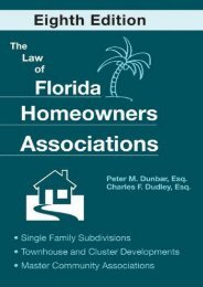 Best PDF The Law of Florida Homeowners Associations: Single Family Subdivisions Townhouse   Cluster Developments Master Community Associations -  For Ipad - By Peter M. Dunbar