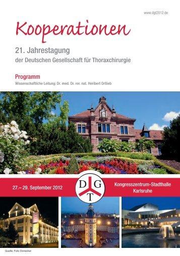 Kooperationen - 21. Jahrestagung der Deutschen Gesellschaft für ...