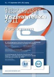 DGVS Programm als pdf - Viszeralmedizin 2012