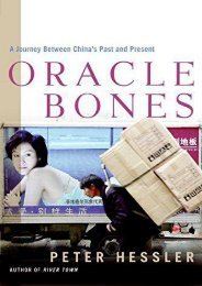 Oracle Bones: A Journey Between China s Past and Present