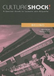 Culture Shock! : A Survival Guide to Customs and Etiquette: Beijing