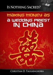 Is Nothing Sacred? Making Money as a Wedding Priest in China