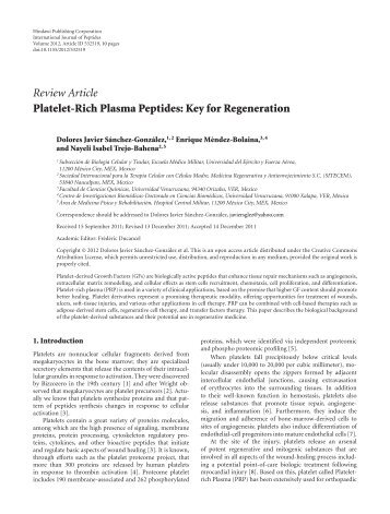 Review Article Platelet-Rich Plasma Peptides: Key ... - BioMedSearch