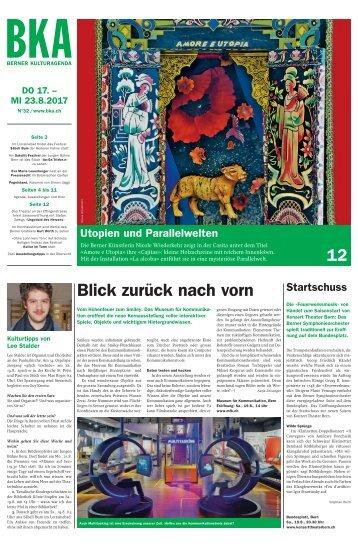 Berner Kulturagenda 2017 N° 32