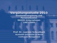 Vergütungsstudie 2010 - Humboldt-Universität zu Berlin