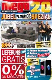 Mega Möbel und Küchen in Schwandorf und Weiden - Jubel-Planungs-Spezial