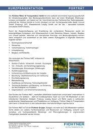 kurzpräsentation leistungsbild - Fichtner Water & Transportation GmbH