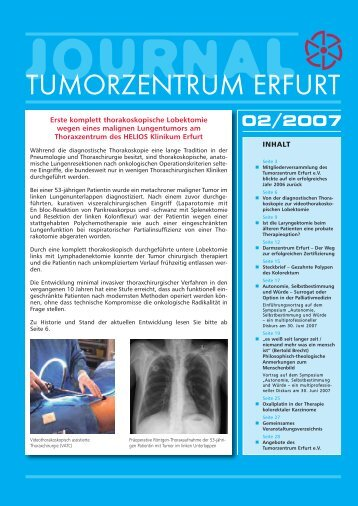 journal - Tumorzentrum Erfurt eV