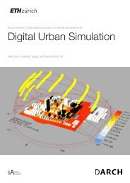 Digital Urban Simulation : Documentation of the Teaching Results from the Autumn Semester 2016