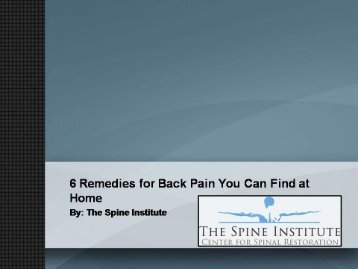 6 Remedies for Back Pain You Can Find at Home